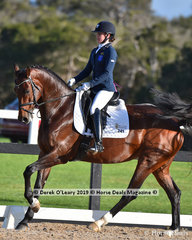 """Zoe"" ridden by Georgina Foot was the winner in the Medium Championship with a final score of 132 points"