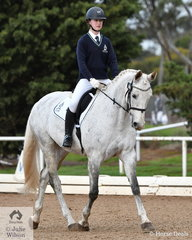 Lillian Trevorrow representing Tintern Grammar rode her, 'Kenadlee Levitate' to take third place in the Preliminary Senior1B test.