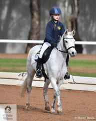 Charlotte Baker from Little River Primary School rode 'Warranwood Pandora' in the Preliminary Primary.