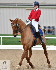 Madeleine Bills from Toorak College rode, 'Fricco Enshoj' to second place in the Medium 4B.