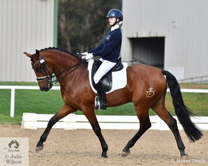 Olivia Gillespie representing Braemar College rode, 'Versace 1' to win the Medium 4B.