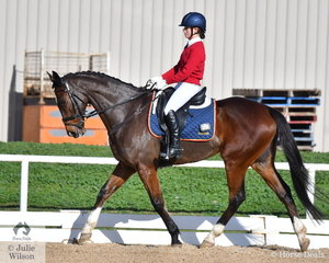 Laura Hercules from Toorak College rode, 'Friday Street' to take third place in the Elementary 3B.'