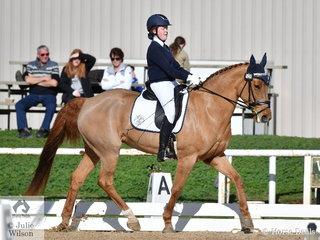 Abby Martin representing Braemar College rode, 'Estella' to  to fourth place in the Medium 4C.