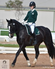 Sophie Griffiths all the way from Finley High School rode, 'Margherite' to  to third place in the Novice Intermediate 2B test.