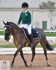 Ella McCann representing Geelong College rode, 'Tilley Park Charleston' to win the Novice Intermediate 2C.