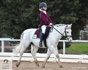 Merissa Blazes representing the Kardinia International College is pictured aboard her delightful, 'Pegasus' during the Preliminary Primary competition at the VEIS 2019 Grand Final.