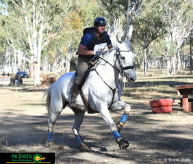 Wasting no time during the Warwick Horse Trials One Star cross country was Nicholas Ballard and Celtic Gilligan.