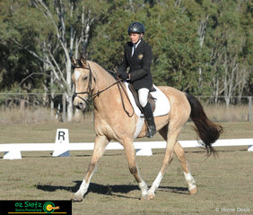 Putting their best hoof forward in the open division of the EvA95 class was Pru Stewart and her horse Ottaba Calimanco.