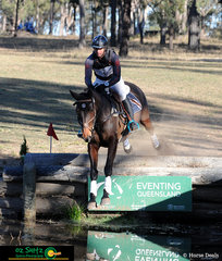 Dean Morris and Belcam Copcosi were the first combination out on the cross country phase of the  One Star class at the Warwick Horse Trials.