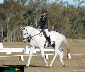 Competing in the Junior Phase of the Warwick Horse Trials EvA95 was Uma Vanderwaal and Luck From Above.