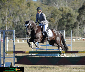 Mini Prix Show Jumper Bramley Star, steps back into his eventing days with Mandy Ballard in the saddle as they compete in the EvA80.