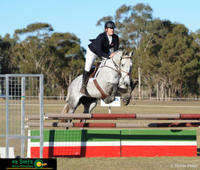 Navigating their way around the EvA95 show jumping phase on Saturday afternoon was Georgia Fenton and Cushavon Bella.