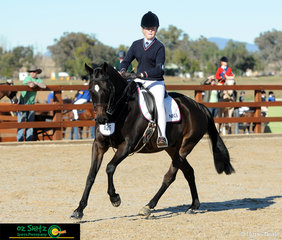 Representing the New England Girls School is Holly Jacobson with her mount Stoney Creek in the Year 7-9 Show Hunter Ridden phase on Day 1 of the Interschool Horse Extravaganza..