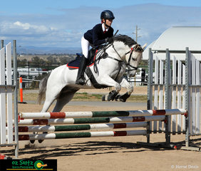 Proving scope during the Show Jumping phase of the EvA 80cm ODE was Vanessa Baker riding her pony Charisma Park Nike.
