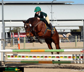 Eyespi certainly enjoys jumping with rider Lilly Munce in the combine training 80cm class.