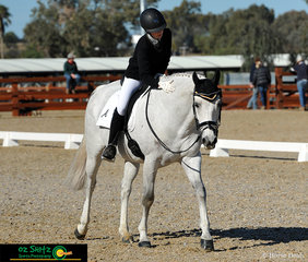 Last pair into the dressage arena for the Combined Training 60B were Eloise Clare and she gives Byalee Mist a deserving pat after performing their test.