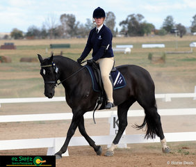 Completing the Senior Preliminary Dressage test as a strong duo was Danneika Lyons from St Ursula's Collage Toowoomba and her horse Grenadier Sequin..