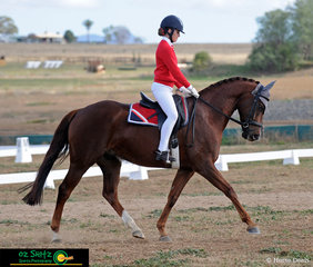 Molly Best rides Sir Versace in one of the pairs first events together. Seven year old Sir Versace, also known as Ricky,  has a huge personality and loves to be the centre of attention says Molly.