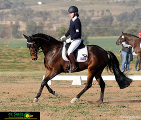 With smooth moves and style, Harriet King from Ascham School and her horse Alkyra Acrobat compete in the Senior Preliminary dressage test.