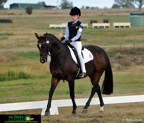 Competing in the Open Elementary Dressage was Darcey Eyb and her horse Caesars Crossing on the third day of the Interschool Horse Extravaganza.