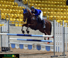 Leaping to greatness in the 110cm Show Jumping course was Hannah Turner from Colo High and her horse Locomotive Breath.