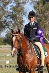Reserve Intermediate Rider Elliot Patterson from Brisbane Boys College