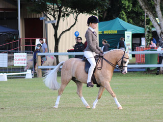 Taylor Hore working out to win the small Hunter pony
