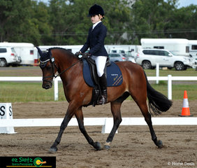 Representing Fairholme College in Toowoomba for the Queensland Interschool State Championships 2019 was Elsie Traynor riding her horse Vittoria Royal Mint in the Intermediate Preliminary Test 1C.