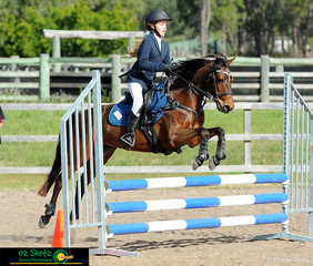 Ethereal Duchesse De Bloom was not touching any of the jumps in the Secondary 70cm Two Phase Show Jumping course with her Year 8 rider Isabella Forsyth representing Sheldon College.