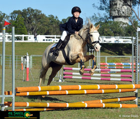 Travelling up from the Sunshine Coast was Daisy Harrison, a year 5 rider from Siena Catholic Primary competing in the 60cm primary show jumping in Maryborough.