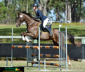 Clearing their course in the secondary 1m was Olivia Galetto and her horse River Downs Rhythm in Maryborough at the Queensland Interschool State Championships.