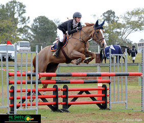 Showing clearance over the first fence of the combination in the Secondary 1.10m A2 was Chailyn Macfarlane and Immenhof Fame, representing Livingstone Christian College in Grade 10.