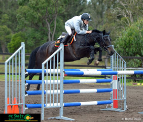 Come rain, hail or shine, Holly Tomkins and her 14.2hh pony Princess Annie will be out there competing. The two competed in the 1.10m and ended up with a clear round and 4th place.