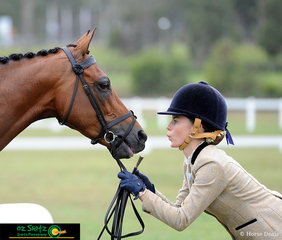 Ayshia Noy knows exactly what to do to get the best presentation from Argyl Arts. The pair were competing in the Intermediate Working Hunter representing Emmaus College.