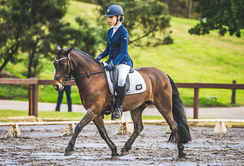 Ella Rose Palmer (NSW) on her lovely Welsh Pony Amethyst Park Mini Me in the Elementary Pony