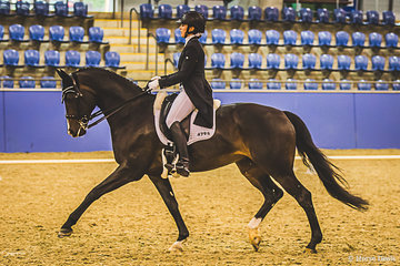 Taylah Stuart (NSW) and Astek Ghisella taking out the Prix St Georges with a final score of 68.627% (C=69.853, B=70.441, H=65.588)  The combination had a very successful weekend winning the FEI Small Tour from Tess Gunn and Lets Romance