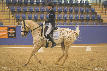 Tanisha Ryan and Northern Lights a Quarter horse Appaloosa cross in Saturdays Grand Prix scoring 59.103%