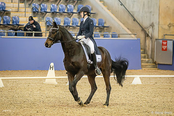 Tess Gunn (NSW) and Lets Romance Intermediate 1 Freestyle scoring 68.192% putting them in first place ahead of Taylah Stuart and Astek Ghisella 2nd with 65.808%