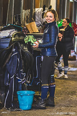 Natasha Moody member of Victoria's young rider squad  from Belgrave, preparing for a busy weekend on her beautiful mare Diamonte Noir