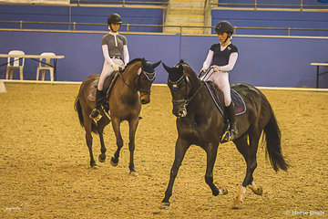 Kaitlin Martin on Divina and Monet Stevenson on Dubendorf Santa Hit from NSW competing in the Pas De Deux putting their best foot forward.