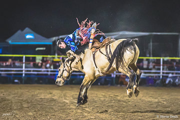 Zeb Pearce (NSW) on Fools Gold in the Saddle Bronc in the State of Origin Challenge