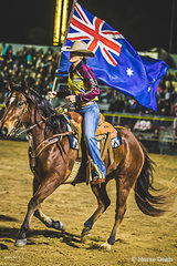 Flag Bearer at the Opening of the 70th Mareeba Rodeo.  Proud to be a Far North Queenslander