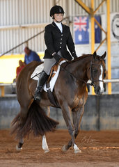 BPS Hot N Sassy with Sharnte Wilson in the  Hunt seat Equitation.