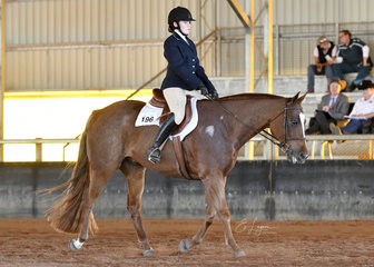 Sumpth N Noble ridden by Syerra Daley in the Youth 7-11 years Hunt Seat Equitation