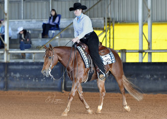 Whizkey On The Rocks ridden by Kelsie Moyce in Youth Ranch Riding.