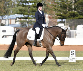 Command To Hug ridden by Ellara Taylor in the Youth Dressage Preliminary 1A