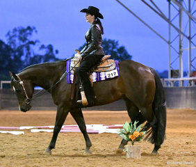 Holly Wilkie riding All Of A Sudden in the Junior Horse Trail