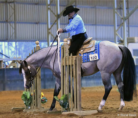 Reach For The Roan and Rosemary Webb in the Junior Horse Trail