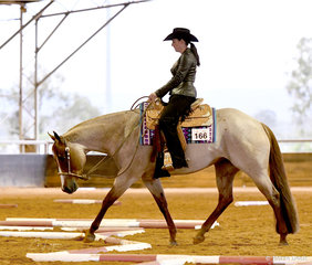 RRD Lets Talk ABout Mee shown by Holly Wilkie in the Junior Horse Trail