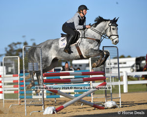 """Olivia Thompson rode """"Shady Spud"""" in the Open A Grade"""
